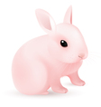 pink easter bunny vector image vector image