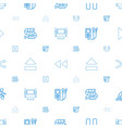 player icons pattern seamless white background vector image vector image