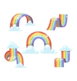Rainbow set isolated vector image vector image