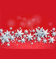 red realistic snow card vector image