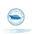 retro vintage yacht ship boat logo design vector image vector image