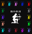 Sagittarius icon sign Lots of colorful symbols for vector image