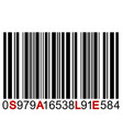 sale message on barcode vector image