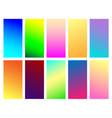 set color gradient backgrounds vector image