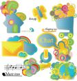 set of shiny icons vector image vector image