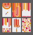 set six business card vector image