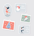 set tags and labels for winter holidays vector image vector image