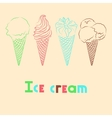 silhouettes ice cream with signature vector image