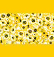 simple yellow flower seamless pattern vector image vector image