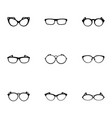 spectacle icons set simple style vector image