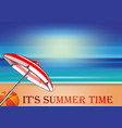 summer design with lettering - its summer time vector image