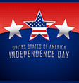 three silver stars 4th of july background vector image vector image