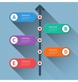 timeline minimal arrow step styled infographics vector image