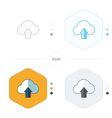 Upload cloud icon 4 design vector image vector image