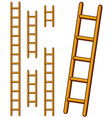 various cartoon step ladders set vector image