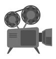 vintage movie camera with reel cartoon vector image vector image