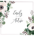 wedding invite card invitation save the date vector image