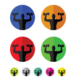 weights icons vector image
