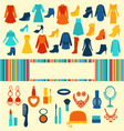 Women accessories Shopping background vector image vector image