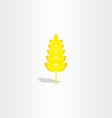 yellow plant wheat icon vector image