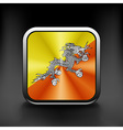 Bhutan icon flag national travel icon country vector image