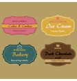Set of labels for cakes cookies ice cream vector image