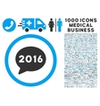2016 Message Icon with 1000 Medical Business vector image vector image