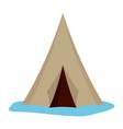 alaska tent icon flat style vector image