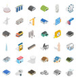 architecture object icons set isometric style vector image vector image