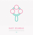 baby beanbag thin line icon vector image vector image
