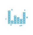bar graph icon design vector image vector image