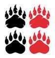 bear paw logo design concept collection vector image vector image