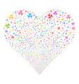 biohazard fireworks heart vector image vector image