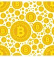 bitcoin coins seamless pattern vector image
