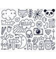 black doodles vector image
