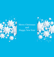 blue paper cut card vector image vector image