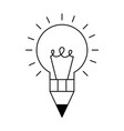 bulb pencil isolated icon vector image vector image