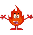 Cartoon flame vector image vector image