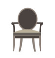 chair icon isolated view furniture design flat vector image vector image