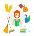 Cleaning lady concept vector image