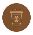 coffee cup plastic isolated icon vector image vector image