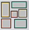 colorful frame on wall vector image vector image