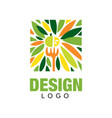 colorful fruit logo healthy food concept vector image vector image