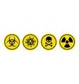 coronavirus icon bio hazard symbol vector image