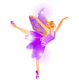 cute christmas figurine in form a dancing vector image vector image