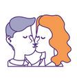 cute couple kissing a romantic scene vector image vector image