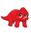 cute dinosaurs cartoon vector image vector image
