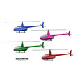 detailed helicopter side view 3d image vector image vector image