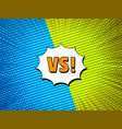 duel and fight colorful comic concept vector image vector image