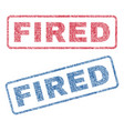 fired textile stamps vector image